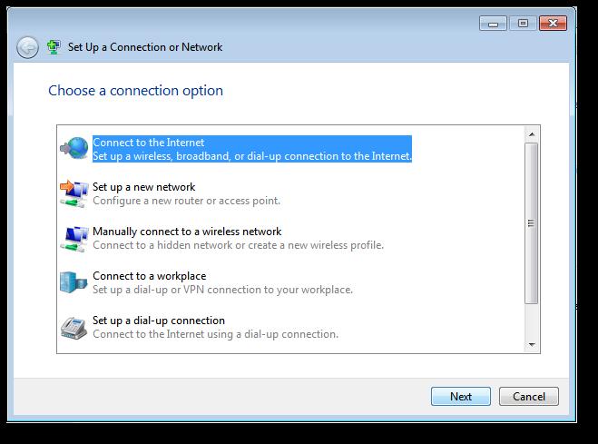 configuration network windows 7